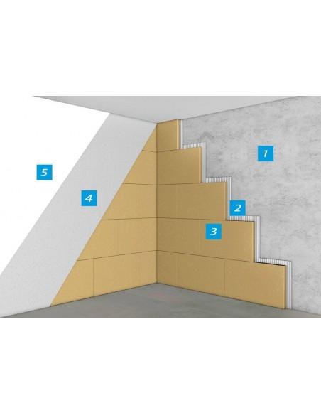 Sistem hidrosilicatic de oprire si indepartare a mucegaiului pe suprafetele de la interior